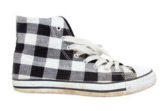 Vintage sneakers on white background Royalty Free Stock Images