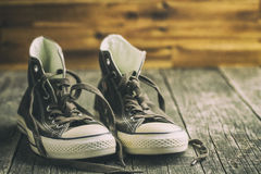 The vintage sneakers. Stock Image
