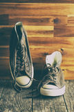 The vintage sneakers. Royalty Free Stock Photos