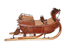 Vintage Snow Sleigh isolated on white Royalty Free Stock Photography