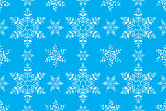 Vintage Snowflake Seamless Pattern Background Vector for Christm Stock Images