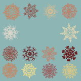 Vintage Snowflakes card. EPS 8 Royalty Free Stock Photos