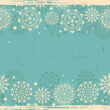 Vintage  snowflakes lace seamless banner Stock Photography