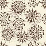 Vintage snowflakes seamless pattern Stock Photo