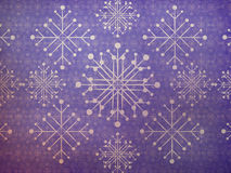 Vintage snowflakes violet background Royalty Free Stock Image