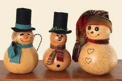 Vintage snowmen Stock Photos