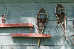 Vintage Snowshoes Royalty Free Stock Photo