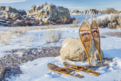 Vintage snowshoes Royalty Free Stock Photography