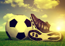 Vintage soccer background Royalty Free Stock Photo