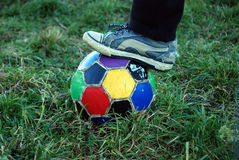 Vintage soccer ball Royalty Free Stock Photography