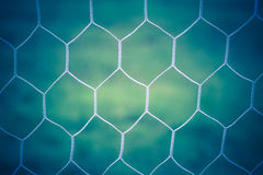 Vintage of soccer goal net Stock Photography