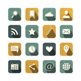 Vintage social media icons set Royalty Free Stock Photo