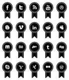 Vintage Social Media Ribbons Stock Image