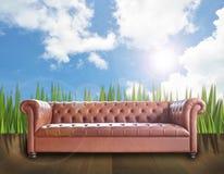 Vintage sofa Stock Photo