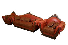 Vintage sofa with armchair Royalty Free Stock Image