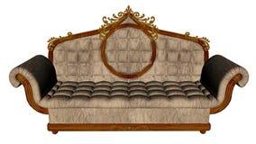 Vintage sofa - 3D render Stock Images