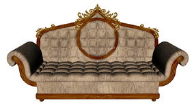 Vintage sofa - 3D render. Vintage sofa isolated in white background - 3D render Stock Images