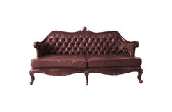Vintage sofa isolated Royalty Free Stock Photo
