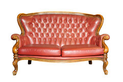 Vintage sofa isolated on white Stock Image