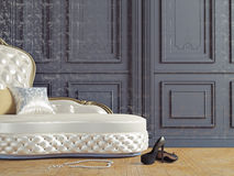 The vintage sofa. And near the  wall (3d illustration Royalty Free Stock Photo