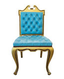 Vintage soft blue chair. Royalty Free Stock Images