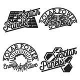 Vintage solar panels emblems. Signs and symbols. Vector illustration, EPS 10 Stock Photos