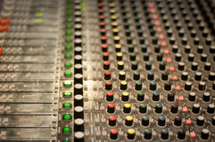 Vintage sound desk Royalty Free Stock Photo
