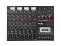 Vintage Sound Mixing Board and Recorder Isolated Royalty Free Stock Images