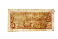 Vintage South African 1970s Bank Note Royalty Free Stock Image