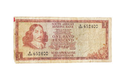Vintage South African 1970s Bank Note Royalty Free Stock Images