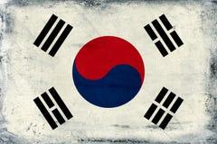 Vintage South Korea flag background Royalty Free Stock Photo