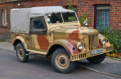 Vintage Soviet Army truck GAZ-69 parked Royalty Free Stock Photos