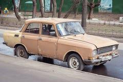 Vintage soviet automobile Royalty Free Stock Photo
