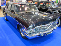 Vintage soviet car chaika, exhibition details, Royalty Free Stock Photos
