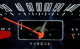 Vintage soviet car speedometer Royalty Free Stock Photography