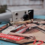 Vintage soviet journals Stock Photos