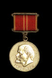 Vintage Soviet Medal with Lenin on it Royalty Free Stock Photo