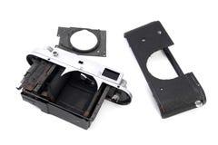 Vintage soviet rangefinder camera taken apart Stock Image