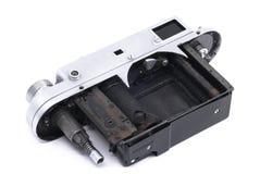 Vintage soviet rangefinder camera taken apart Royalty Free Stock Image