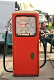 Vintage soviet red gas station at the Old Car Land Festival Stock Photography