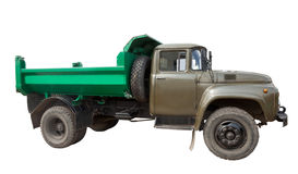 Vintage Soviet truck. Isolated over white Royalty Free Stock Image
