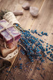 Vintage spa still-life with lavender Royalty Free Stock Photos