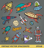 Vintage space ships Stock Photo