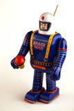 Vintage spaceman tin toy Stock Photo