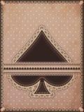 Vintage spades poker card Royalty Free Stock Photo