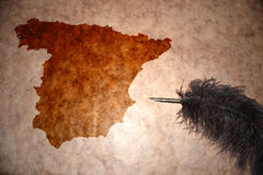 Vintage Spain map Stock Photography