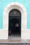 Vintage Spanish colonial doors and windows in Camaguey, Cuba. Unesco World Heritage Site Stock Photo