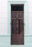 Vintage Spanish colonial doors and windows in Camaguey, Cuba. Unesco World Heritage Site Royalty Free Stock Image