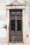Vintage Spanish colonial doors and windows in Camaguey, Cuba. Unesco World Heritage Site Stock Images
