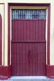 Vintage Spanish colonial doors and windows in Camaguey, Cuba. Unesco World Heritage Site Royalty Free Stock Photography